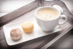 Coffee and macaroons. Stock Photography