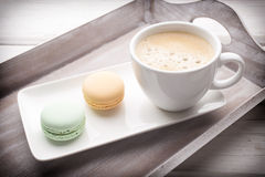 Coffee and macaroons. Stock Photo
