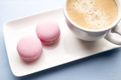 Coffee and macaroons. Royalty Free Stock Image