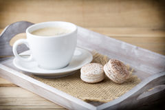 Coffee and macaroons. Royalty Free Stock Images