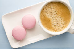 Coffee and macaroons. Stock Images