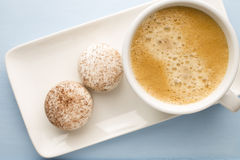 Coffee and macaroons. Royalty Free Stock Photo