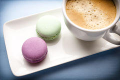 Coffee and macaroons. Royalty Free Stock Photos