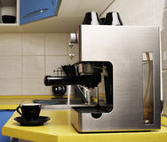 Coffee machine. Royalty Free Stock Photos