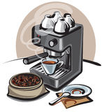 Coffee machine Royalty Free Stock Image