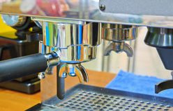 Coffee machine. Closeup the coffee machine, can use background royalty free stock photo