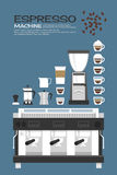 Coffee machine - accessories icons Royalty Free Stock Image