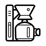 Coffee machine appliance. isolated icon vector illustration. outline design cofee machine for office Royalty Free Stock Images