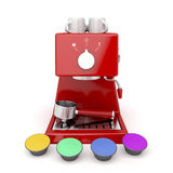 Coffee machine capsules Royalty Free Stock Photos
