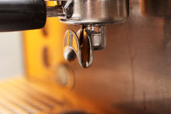 Coffee machine, close up Stock Photography