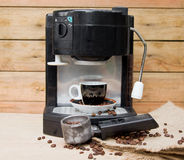 Coffee Machine and Coffee Cup Stock Images