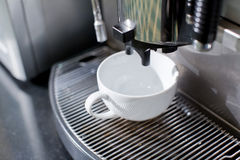Coffee Machine and cup Royalty Free Stock Photos