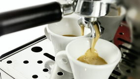 Coffee machine cups full stock footage