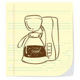 Coffee Machine Doodle Stock Photos