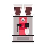 Coffee machine isolated on white background Kitchen appliance Royalty Free Stock Photos