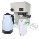 Coffee machine, kettle and blender Stock Image