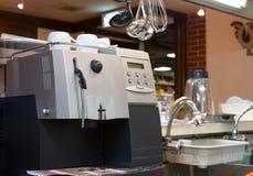 Coffee Machine in Kitchen. Coffee machine in Cafe's kitchen Stock Photos