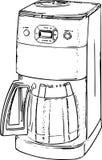Coffee Machine Line Art Drawing Stock Photo