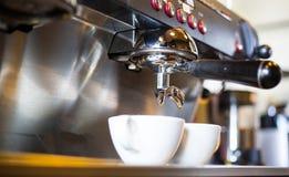 Coffee machine make beverage hot drink Stock Images