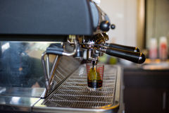 Coffee machine make beverage hot drink Royalty Free Stock Photos