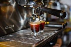 Coffee machine make beverage hot drink Stock Photo