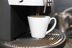 Coffee machine making espresso Stock Photos