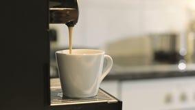 Coffee machine making espresso. stock footage
