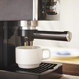 Coffee machine making fresh coffee Stock Photography