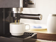 Coffee machine making fresh coffee Royalty Free Stock Photography