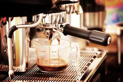 Coffee machine in old style processed Royalty Free Stock Photography