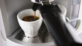 Coffee maker in operation stock video