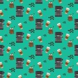 Coffee machine pattern Royalty Free Stock Photos