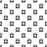 Coffee machine pattern, simple style Stock Image