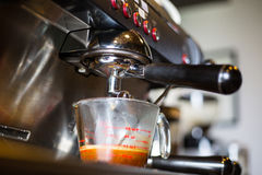 Coffee machine prepare for make beverage Royalty Free Stock Image