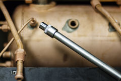 The coffee machine repair. The boiler of the coffee machine, the coffee machine repair Stock Photography