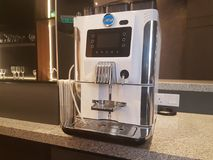 19th september 2017, Kuala Lumpur. Modern coffee machine at shopping mall. Royalty Free Stock Photos
