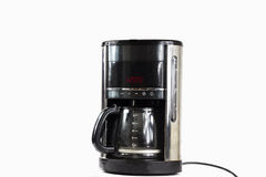 Coffee machine with timer royalty free stock photo