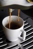 Coffee machine at work Stock Photo