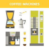Coffee-machines set Stock Images