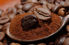Coffee macro Royalty Free Stock Images