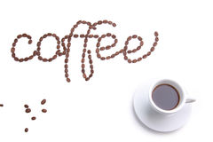 Coffee made from coffee-beans Royalty Free Stock Images