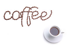 coffee made from coffee-beans Stock Photo