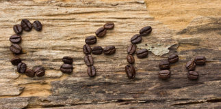 coffee made from coffee beans Royalty Free Stock Image