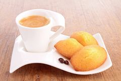 Coffee and madeleine Stock Image