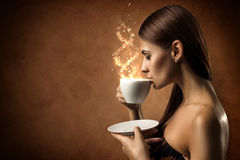 Coffee magic Royalty Free Stock Photos