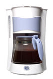 Coffee maker. Isolated on the white background Royalty Free Stock Photo