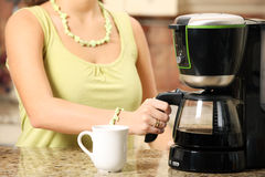Coffee maker Stock Image