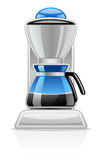 Coffee Maker. Vector illustration of Coffee Maker on white background stock illustration