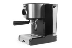 Coffee maker. Isolated coffee maker on a white background Royalty Free Stock Images