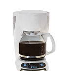 Coffee Maker. With black coffee isolated on a white background Stock Photography